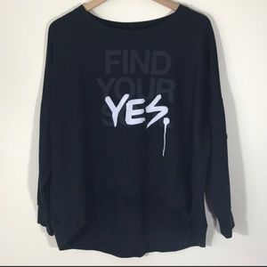 "Soul Cycle Black ""Find Your Yes"" Sweatshirt"